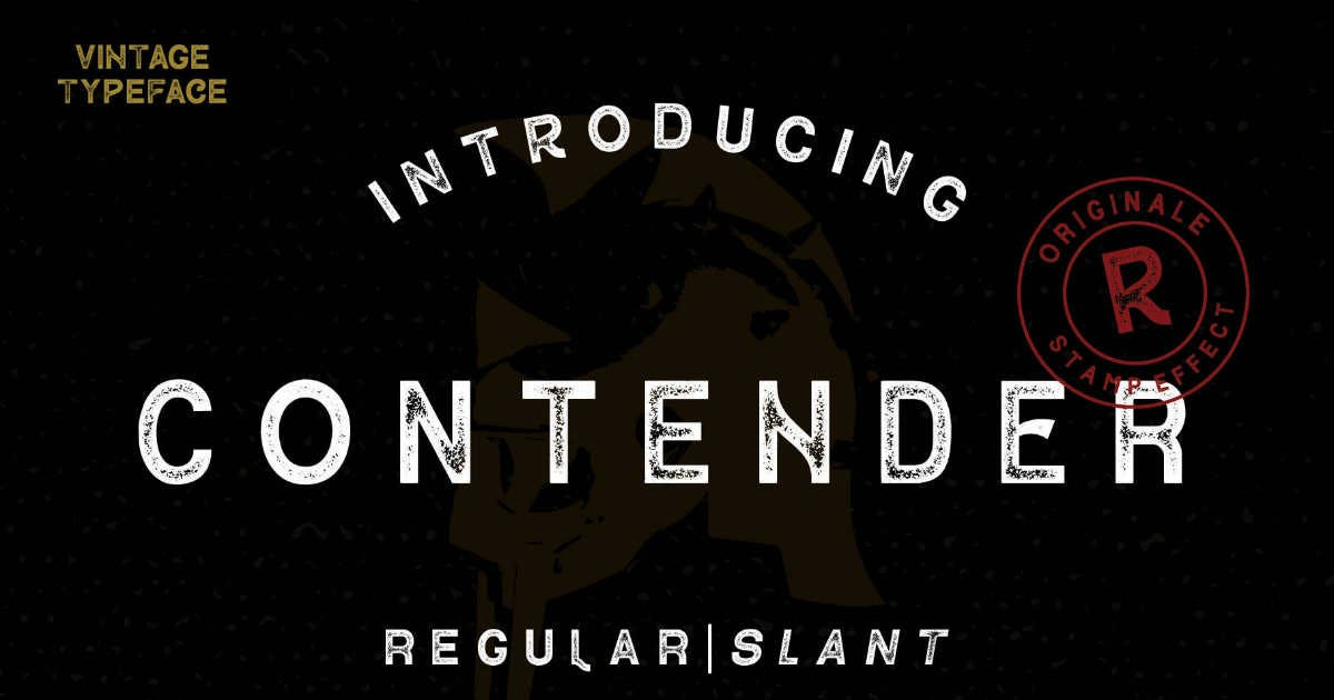 Download Contender Textured Sans Serif by MartypeCo