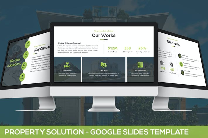 Thumbnail for Property Solution - Google Slides Template