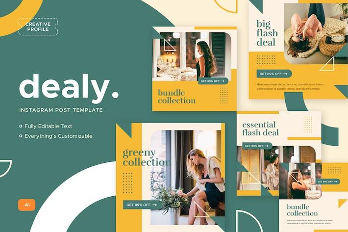 Thumbnail for Dealy - Instagram Post - Social Media Kit