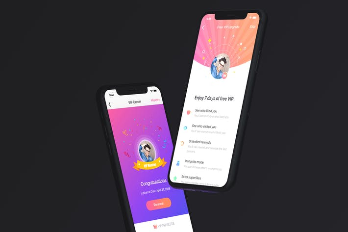 Thumbnail for VIP Center UI concept for Dating App