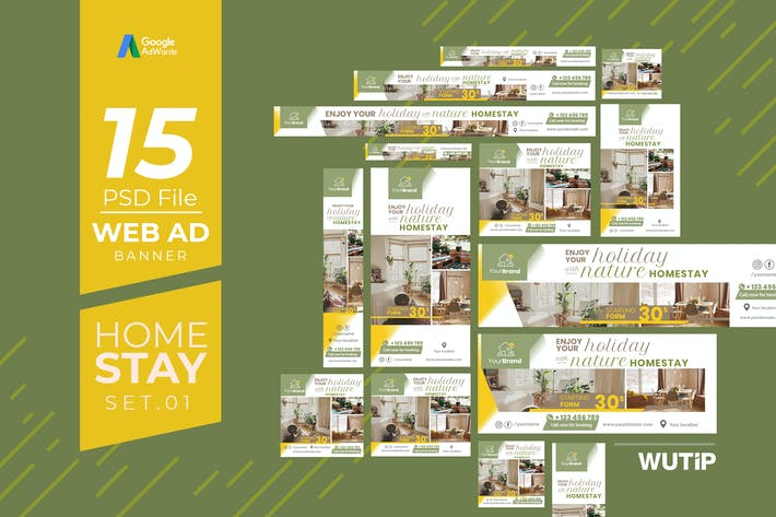 Thumbnail for Web Ad Banners - Homestay 01