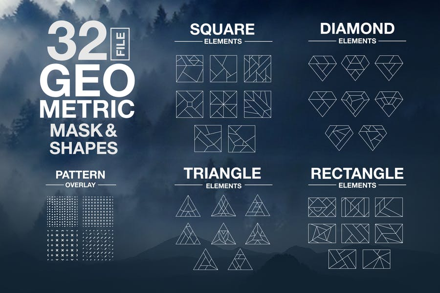 Vector Geometric Mask & Shapes Vol2
