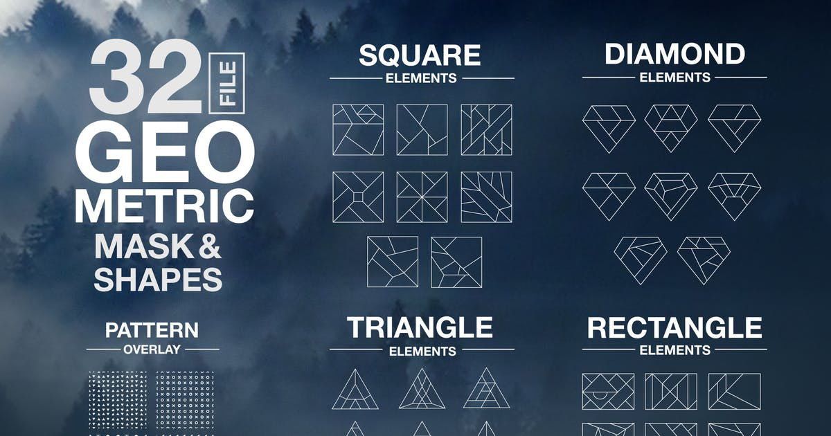 Download Vector Geometric Mask & Shapes Vol2 by Wutip