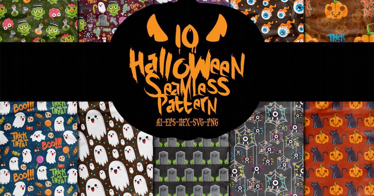 Download 10 Boo Halloween Seamless Patterns Vol.1 by garisman