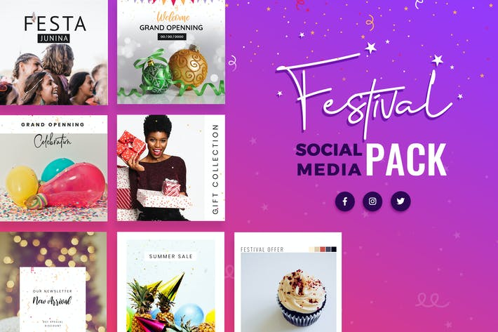 Festival Season Social Media Templates