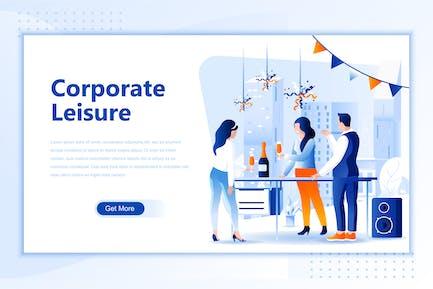 Unternehmens- Leisure Flach Landing Page Header