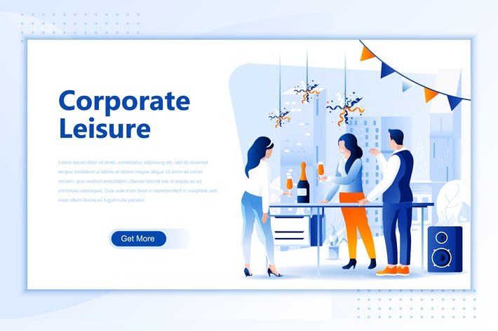 Corporate Leisure Flat Landing Page Header