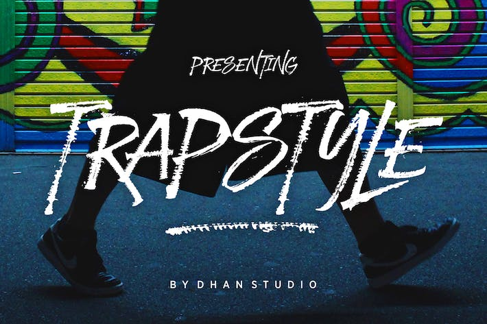 Thumbnail for Trapstyle Typeface