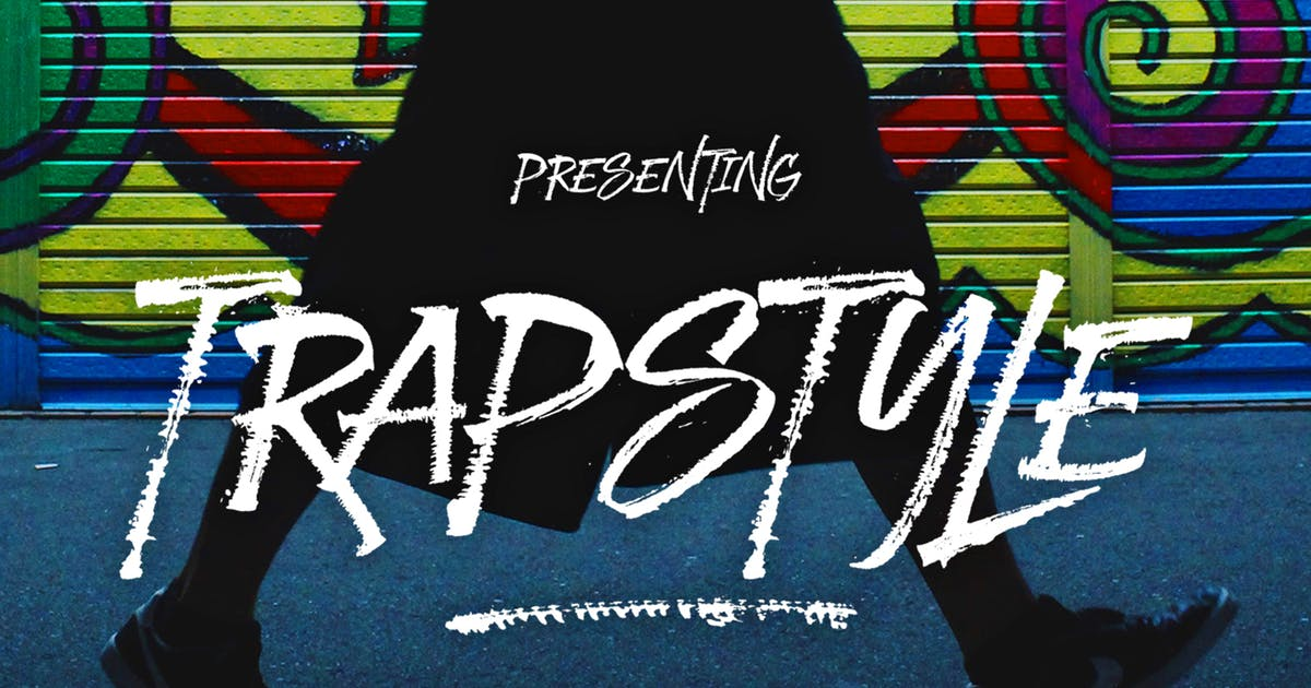 Download Trapstyle Typeface by dhanstudio