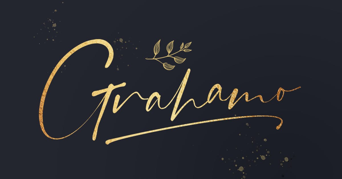 Download Grahamo Signature Font by vultype