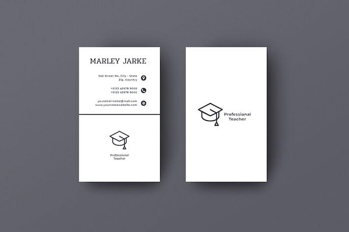 Thumbnail for Vertical Business Card Teacher