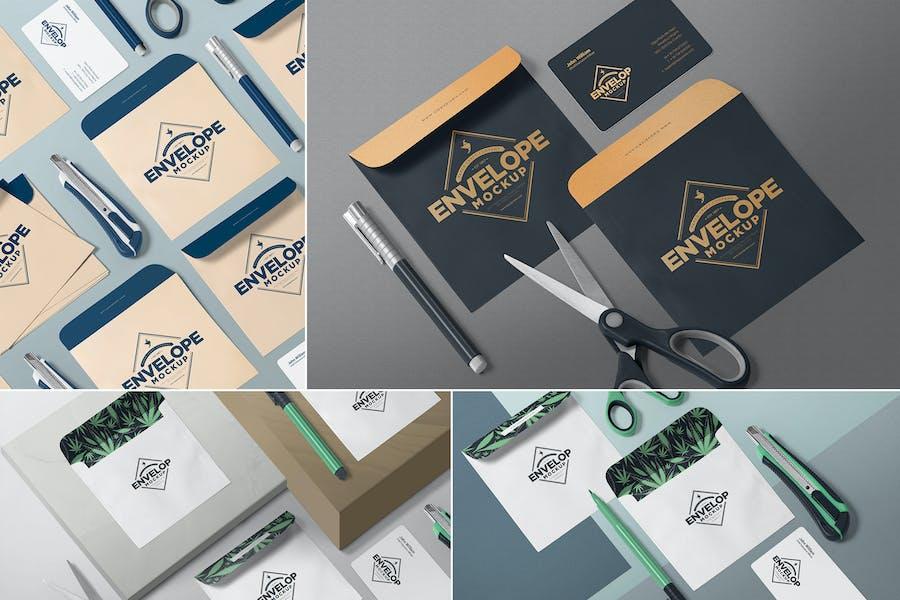 Isometric Envelope Mockups
