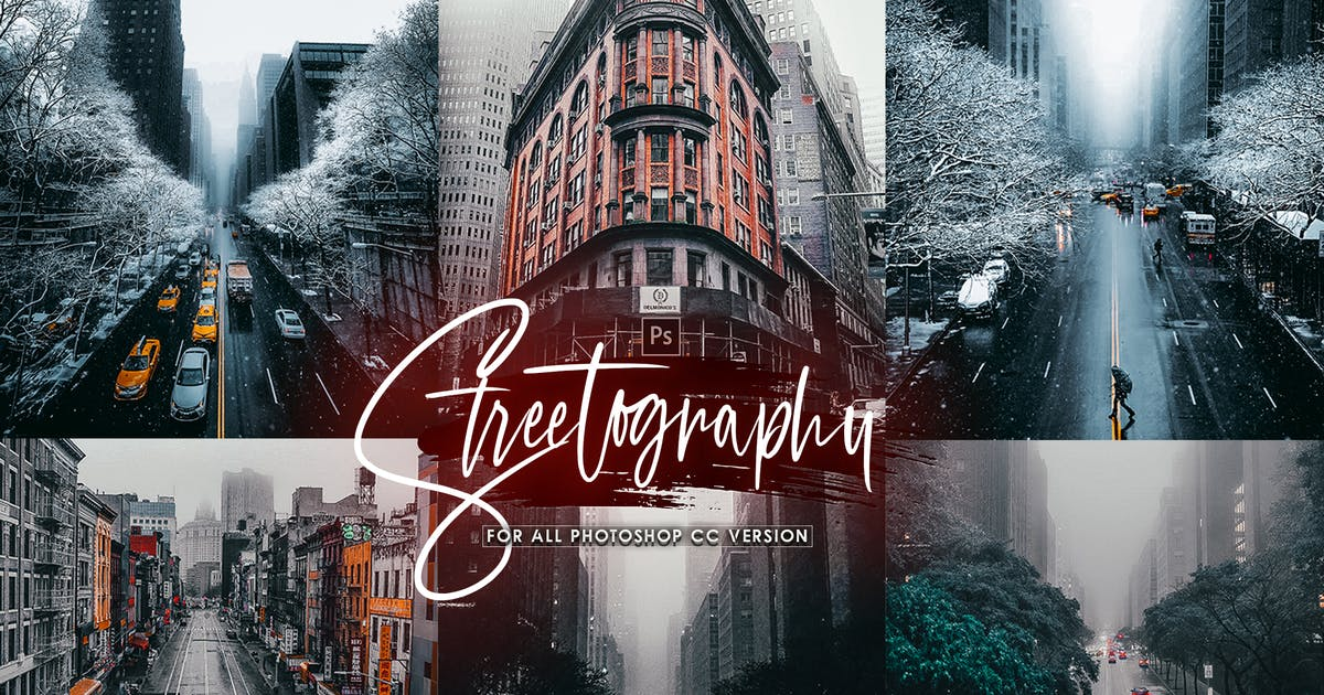 Download Streetography - STreet Photoshop Actions by 2lagus