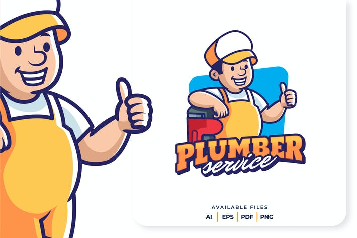Thumbnail for Plumber Mascot Logo
