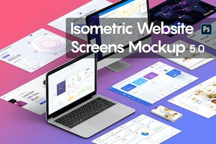 Isometric Website Mockup 5.0