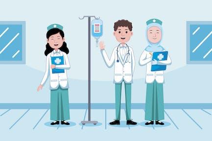 Arzt- und Krankenpfleger