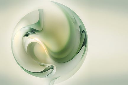 abstract 3D style ball