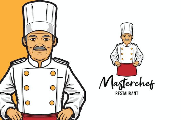 Thumbnail for Masterchef Restaurant Logo Mascot Template