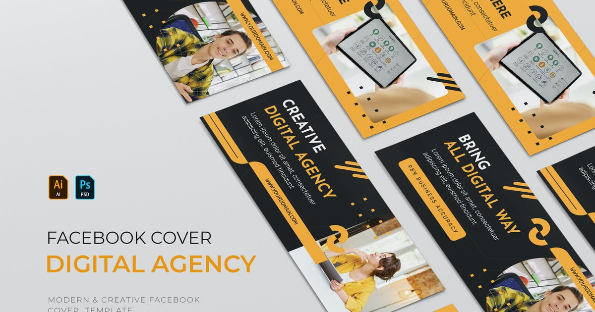 Download The Digital Agency | Facebook Cover by Vunira
