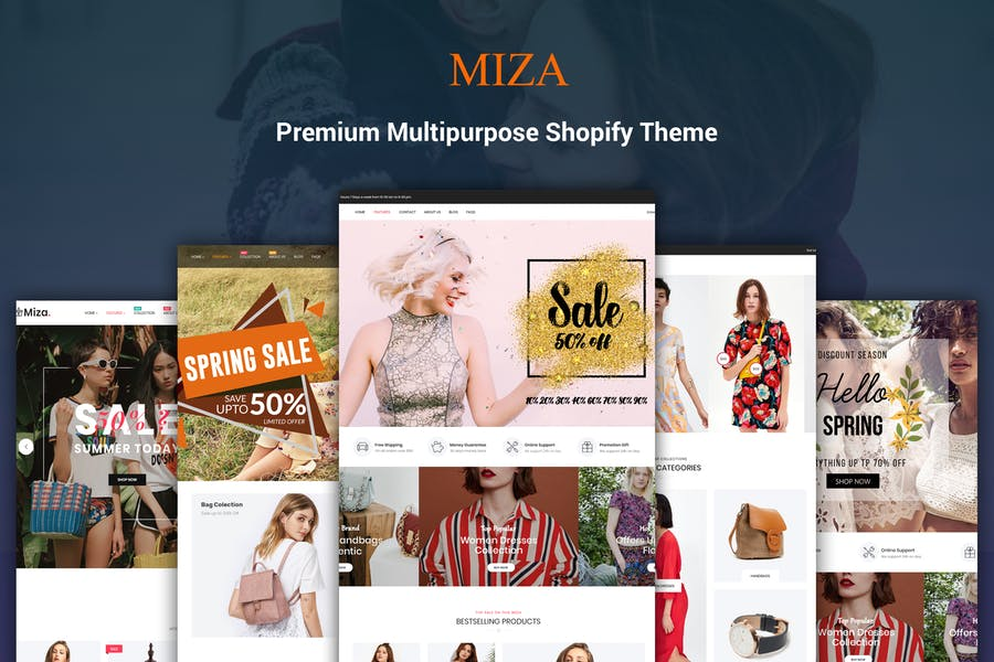 Miza - Fashion Bootstrap 4 Shopify Theme - product preview 0