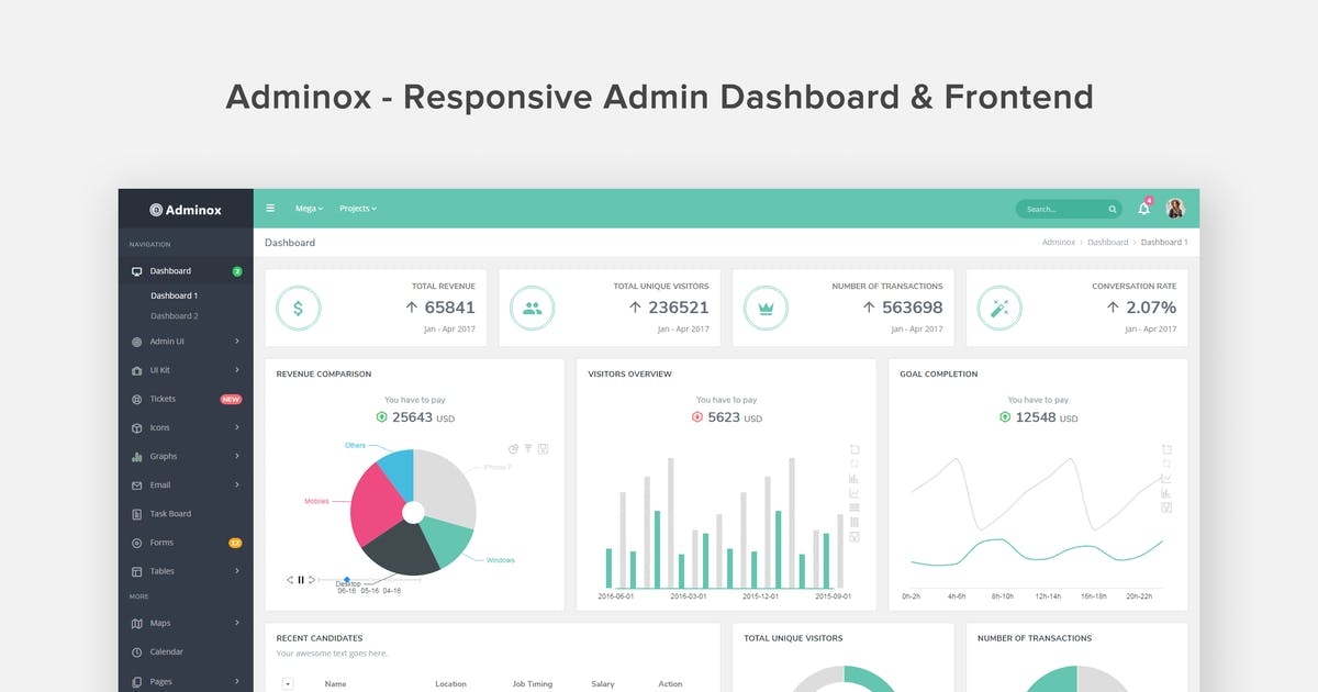 Download Adminox - Responsive Admin Dashboard & Frontend by coderthemes