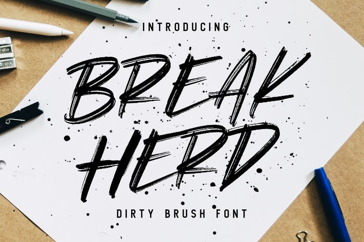 Break Herd  - Dirty Brush Font