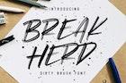 Break Herd  - Dirty Brush Font