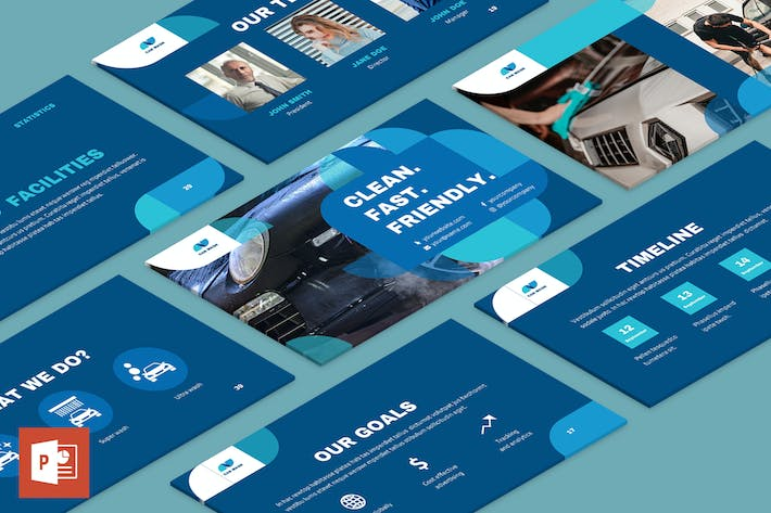 Thumbnail for Car Wash PowerPoint Presentation Template
