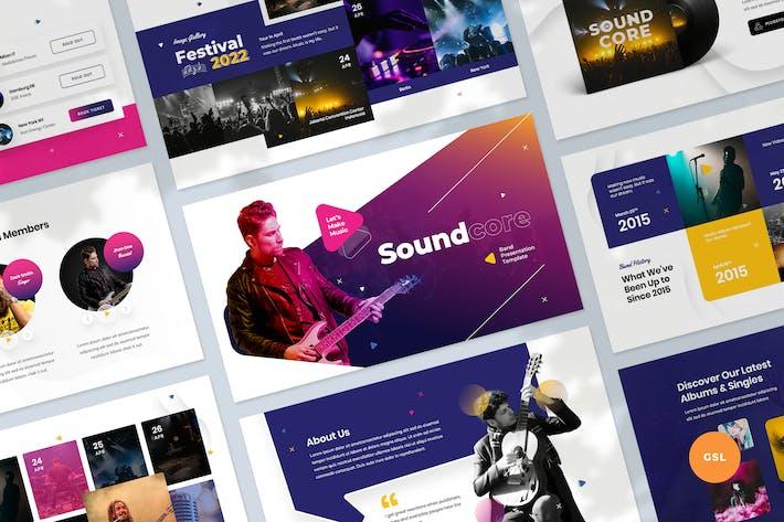 Thumbnail for Music & Band Presentation Slides Template