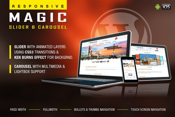 Thumbnail for Magic Responsive Slider and Carousel - WP Plugin