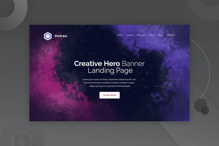 Thumbnail for Potrex - Hero Banner Template