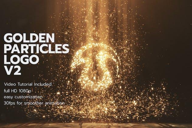 Golden Particles Logo V2