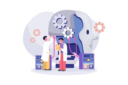 Artificial Intelligence Illustration Concept