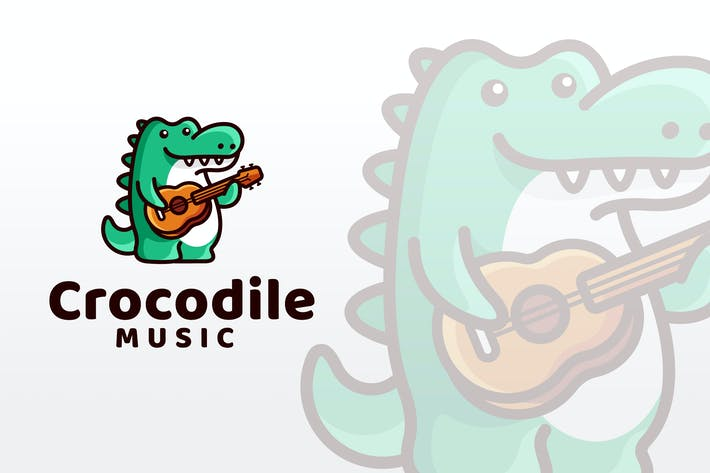 Thumbnail for Crocodile Music Logo Template