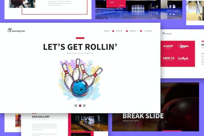 Thumbnail for Шаблон презентации слайдов для боулинга Google