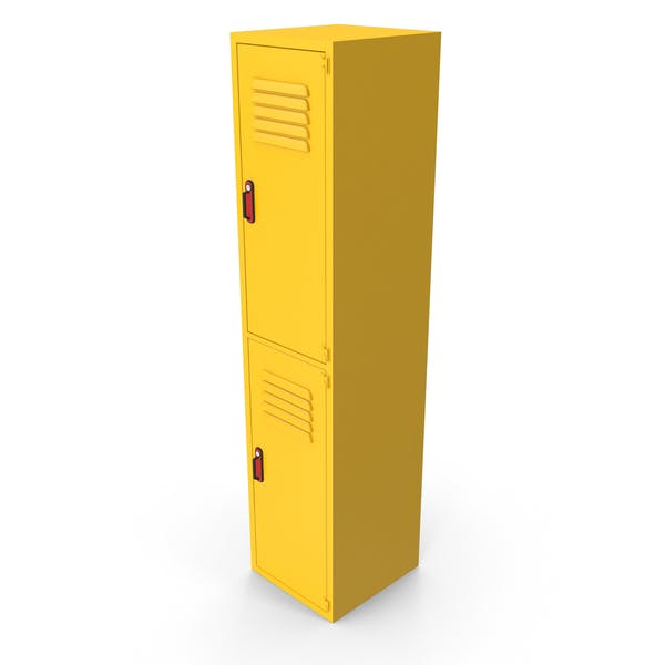 Metal Clothes Cabinet Yellow