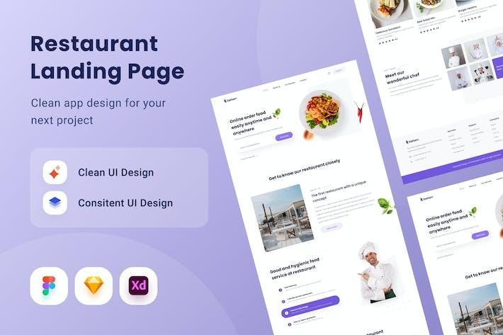 Restaurant Landing Pagee