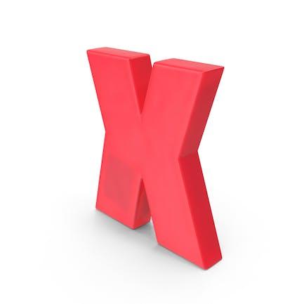 Magnetischer Buchstabe X