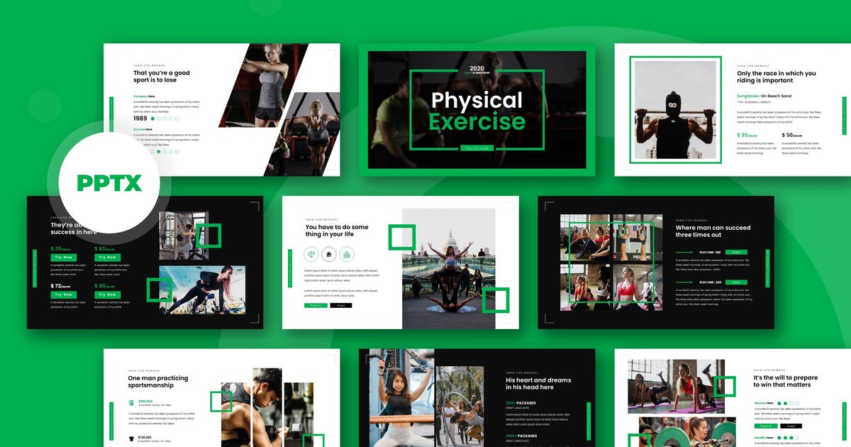 Download Physical - Powerpoint Template by karkunstudio
