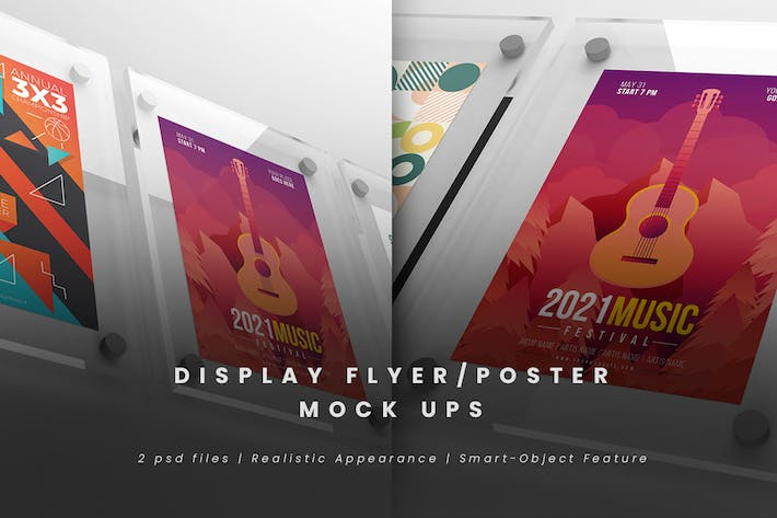 Thumbnail for Display Flyer/Poster Mock-Ups