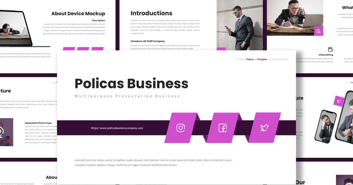 Download Policas - Multipurpose Keynote Template by inspirasign