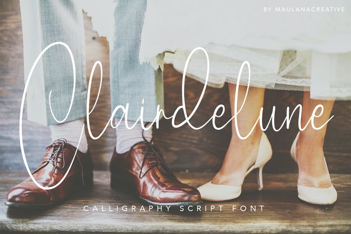 Thumbnail for Clairdelune Calligraphy Modern Script Pinceau Police