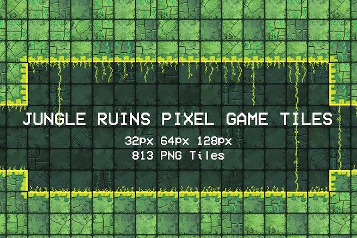 Thumbnail for Jungle Ruins Pixel Game Tiles