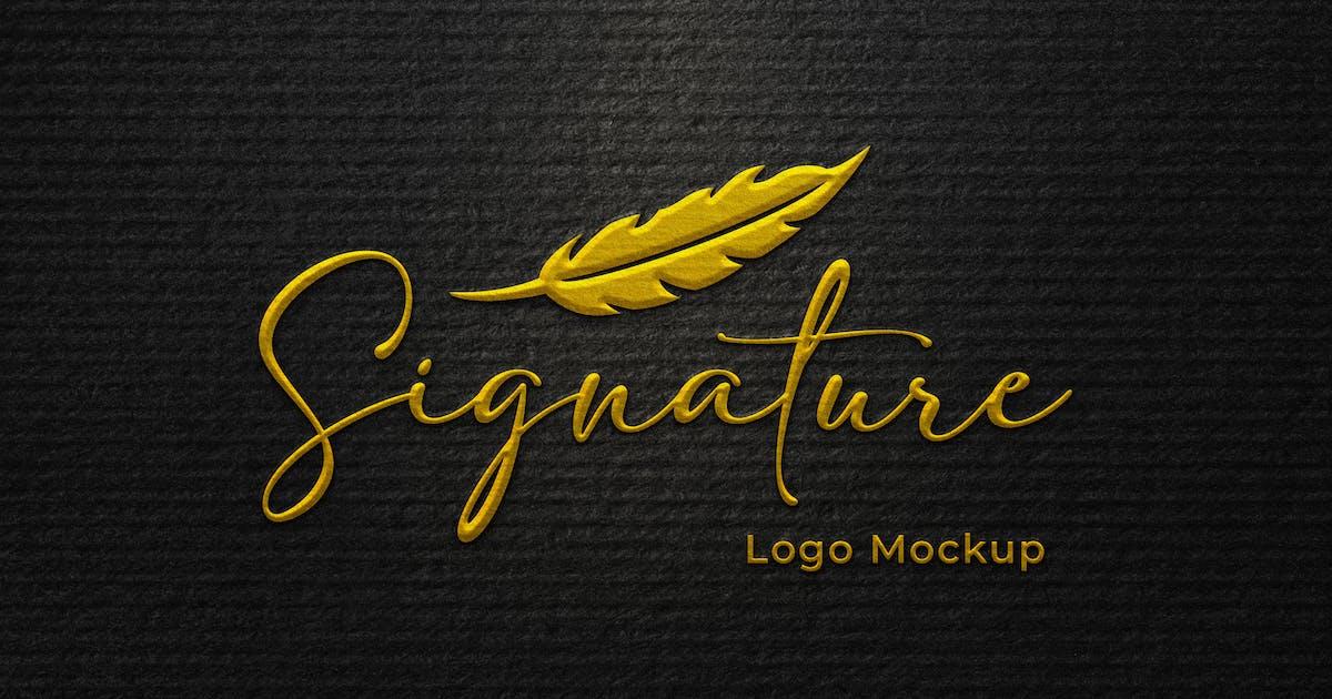 Download Signature Logo Mockup by sagesmask