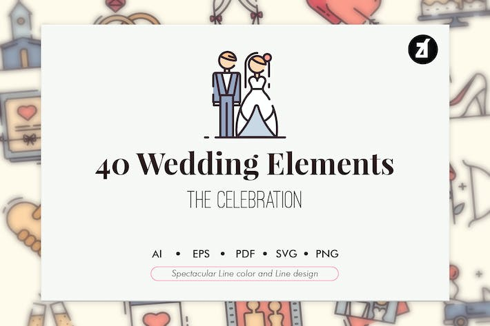 Thumbnail for 40 Wedding elements