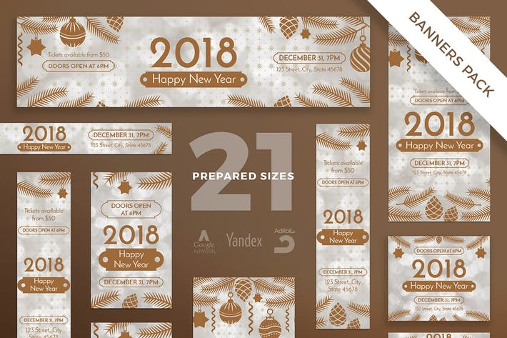 Thumbnail for NewYear Party Banner Pack Template