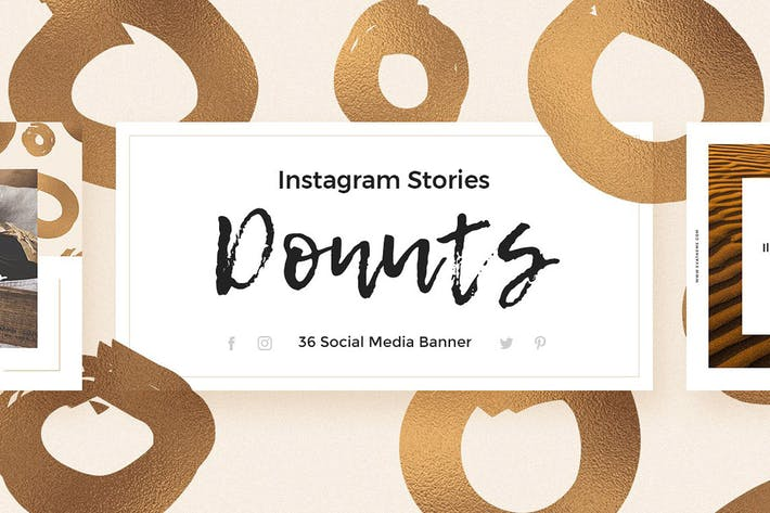 Thumbnail for Donuts - Instagram Stories Pack