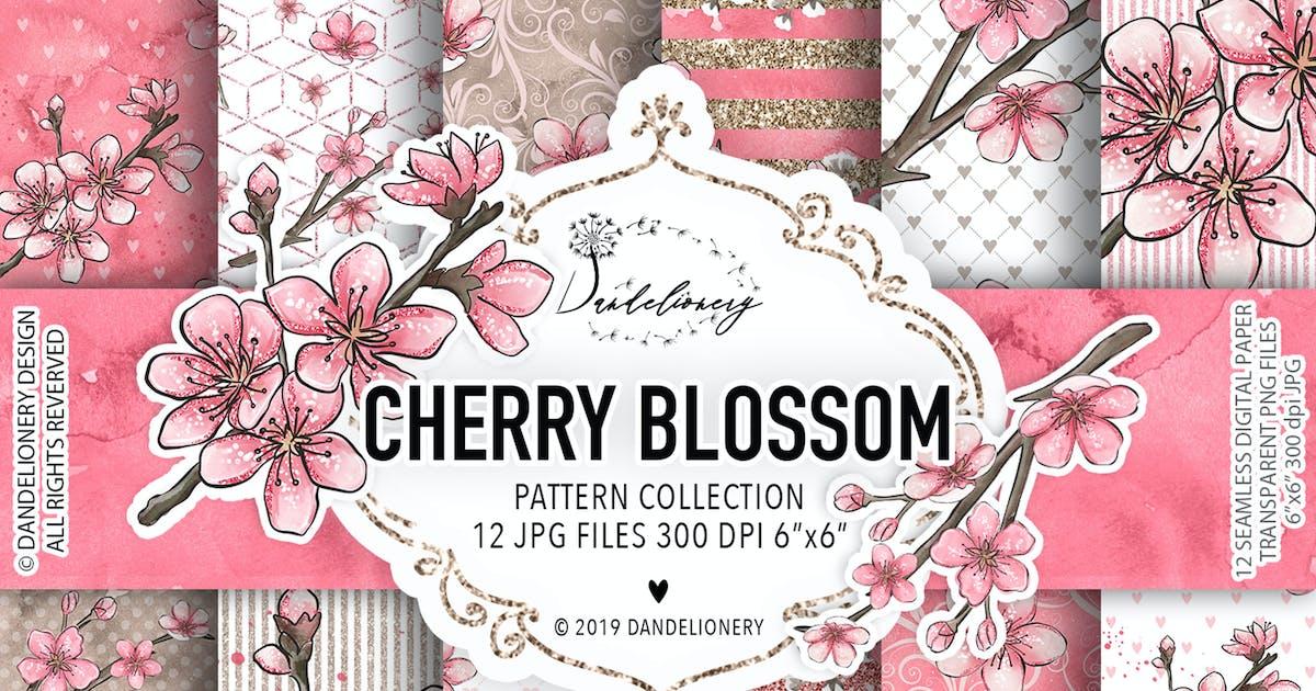 Download Cherry Blossom digital paper pack by designloverstudio