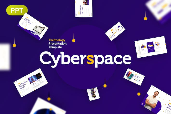 Thumbnail for Cyberspace Technology Presentation Template