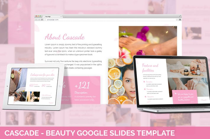 Thumbnail for Cascade - Beauty Google Slides Template